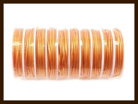 3.5 Meter Waxed Polyester Koord van 2.5mm dik: Oranje.