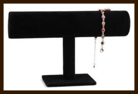 1-Rol Armband Display: Zwart Velours.