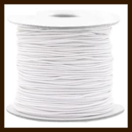 1m: Elastiek met een dikte van 1mm: Wit.