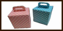 Geschenk Verpakking - Cadeau Doosje  - Baby Shower Doosje: Licht Roze.