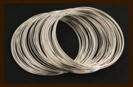 10 Windingen. Memory Wire Nikkel van 40mm.