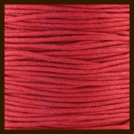 10 meter: Waxkoord van 1mm: Rood.