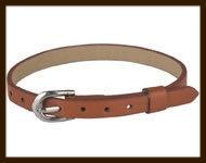 LSK916: Imitatieleren armband 15-22cm, geschikt voor schuifkralen. Kleur: Bruin.
