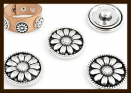 CH08: Chunk-Drukknoop-Easy Button van 18mm: Bloem.