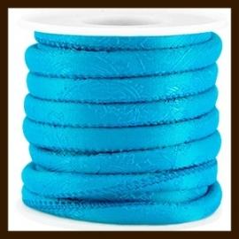 TRK983: 20cm Trendy Barok Koord van 6x4mm: Cyan Blue.