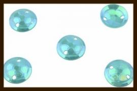 P019: 2gr. Opnaai Pailletten:  Groen-Blauw AB-Glans.