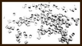 100st. Knijpkralen van 3mm: Tube Nikkel.