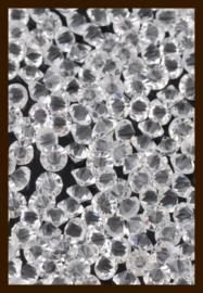 50st. Acryl Similisteentjes van 2.5mm: Transparant.