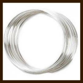 10 Windingen. Memory Wire Silver Plated van 120mm.