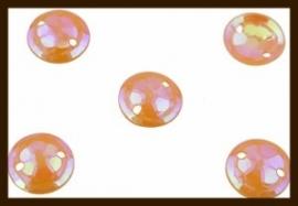 P012: 2gr. Opnaai Pailletten: Oranje AB-Glans.