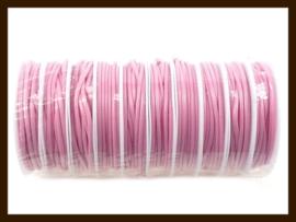 3.5 Meter Waxed Polyester Koord van 2.5mm dik: Roze.