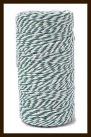 1 Meter Kadolint-Touw: Wit-Groen