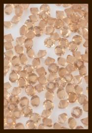 50st. Acryl Similisteentjes van 2.5mm: Licht Topaas.