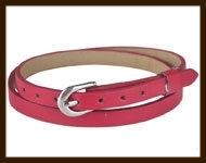 LSK918: Imitatieleren armband 38cm, geschikt voor schuifkralen. Kleur: Donker Rood.