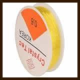 Rol Elastisch Nylondraad van 0.8mm, Lengte 8m: Transparant Geel.
