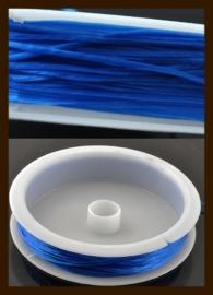 Rol Elastisch Nylondraad van 0.5mm, lengte 10m: Blauw.