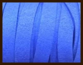 1 Meter IL013: Imitatie Leer van 10mm Breed: Blauw.