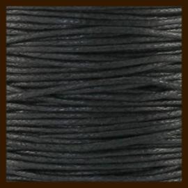 1 meter: Waxkoord van 1mm: Zwart.