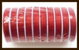 Rol Zijdedraad (Niet Elastisch), 12 Meter, 1.8mm Dik: Rood.