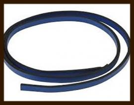 1 Meter IL015: Imitatie Leer van 10mm Breed: Licht Blauw (lichter dan op de foto).