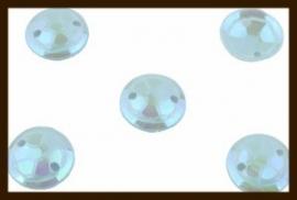 P018: 2gr. Opnaai Pailletten:  Licht Blauw AB-Glans.