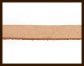 1 Meter IL020: Imitatie Leer van 10mm Breed: Licht Oranje Bruin.