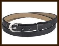 LSK919: Imitatieleren armband 38cm, geschikt voor schuifkralen. Kleur: Zwart.