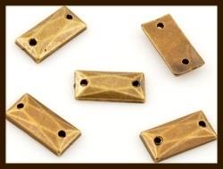 P0128: 10st. Plak / Sew-On Acryl Rechthoek Steentjes van 10x5mm: Bronskleur.
