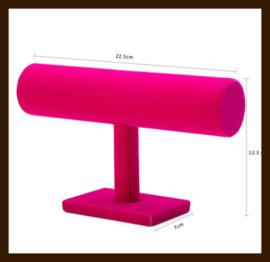 1-Rol Armband Display: Roze Fluweel.
