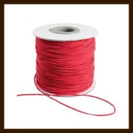 2m: Elastiek met een dikte van 1mm: Rood.