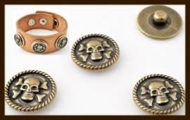 CH07: Chunk-Drukknoop-Easy Button van 18mm: Skull.