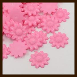 Acryl plaksteen Bloem van 20mm: Roze.