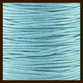 5 meter: Waxkoord van 1mm: Licht Blauw.