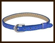 LSK926: Imitatieleren armband 15-22cm, geschikt voor schuifkralen. Kleur: Blauw.