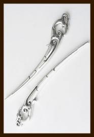 BL015: Tibetaans Zilveren Boekenlegger Draak.