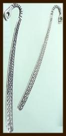 BL018: XXL Tibetaans Zilveren Boekenlegger Hand.