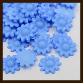 Acryl plaksteen Bloem van 20mm: Blauw.