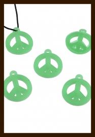 SH59:  Silicone Hanger: Peace Groen.