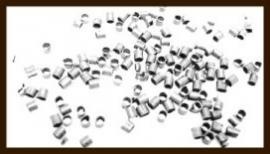 100st. Knijpkralen van 2mm: Tube Nikkel.