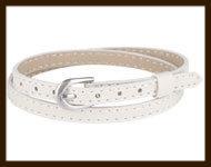 LSK933: Imitatieleren armband 38cm, geschikt voor schuifkralen. Kleur: Zandkleur.