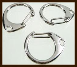 SHR07: Metalen sleutelhanger sluitingen 31,5x26mm