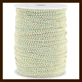 FW296: 1m Fashion Wire van 5mm: Light Blue-Gold