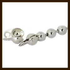 KL013: 10st. Ball-Chain Kalotjes van 6x4mm: Nikkel. (Sluiting voor Ball Chain Ketting van 3-3.5mm).