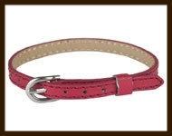 LSK924: Imitatieleren armband 15-22cm, geschikt voor schuifkralen. Kleur: DonkerRood.