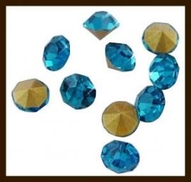 S.622: 100st. Glas Kristal Similisteentjes: Turkoois.