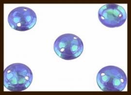 P016: 2gr. Opnaai Pailletten: Paars-Blauw AB-Glans.