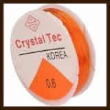 Rol Elastisch Nylondraad van 0.8mm, Lengte 8m: Transparant Oranje.