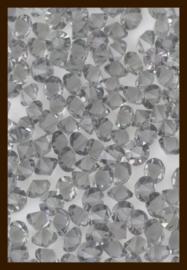 50st. Acryl Similisteentjes van 2.5mm: Grijs.
