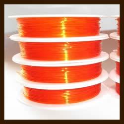 Rol Elastisch Nylondraad van 0.5mm, lengte 10m: Oranje.