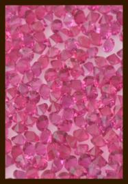 50st. Acryl Similisteentjes van 2.5mm: Fuchsia.